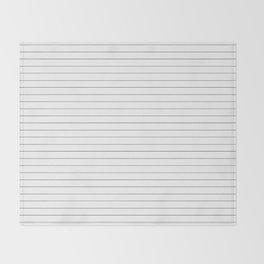 White Black Lines Minimalist Throw Blanket