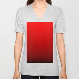 Red Devil Hell and Black Deadly Ombre Nightshade Unisex V-Neck