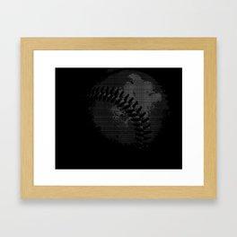 Baseball Illusion Framed Art Print
