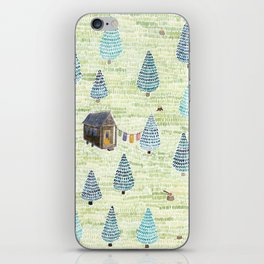 Tiny House in the Big Woods iPhone Skin