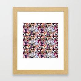 Cleveland Sticker Wall Framed Art Print