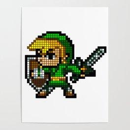 8 Bit Link Poster