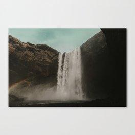 Iceland Waterfall x Skógafoss Canvas Print