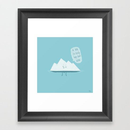 What LIES Below Framed Art Print