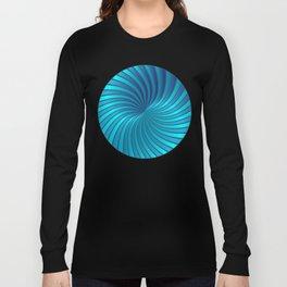 Blue Spiral Vortex G213 Long Sleeve T-shirt