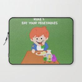 Rule #1: Eat your vegetables Laptop Sleeve