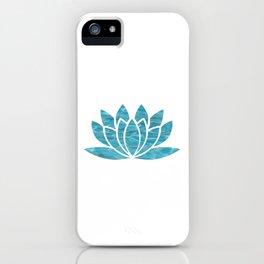 Aqua Lotus iPhone Case