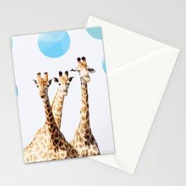 Giraffe with sky polka dots #society6 Stationery Cards