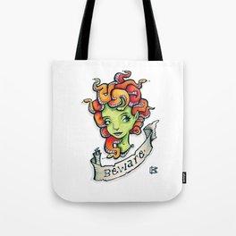 Beware Medusa Girl Tote Bag