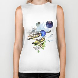 Yellow Birds Biker Tank