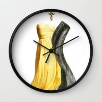 lesbian Wall Clocks featuring Wedding dream. Lesbian thing by al bruzzone
