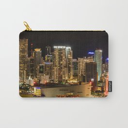 City of Miami at Night Carry-All Pouch