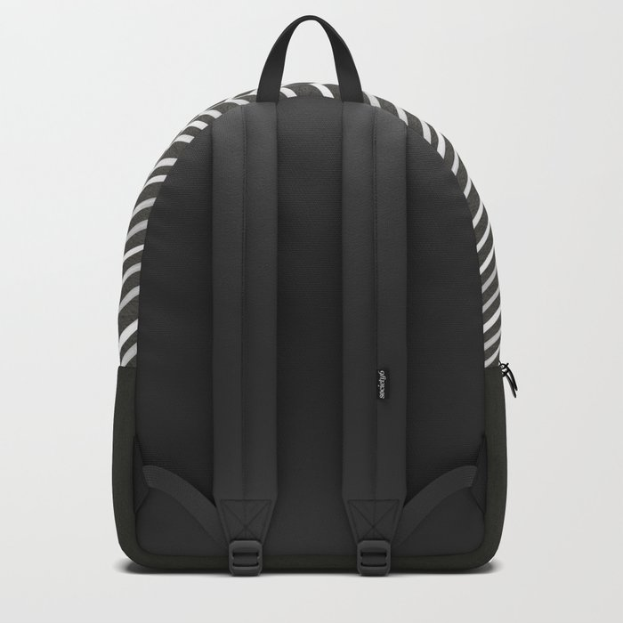 Herringbone – Black & White Backpack