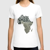 african T-shirts featuring African Continent by ArtSchool