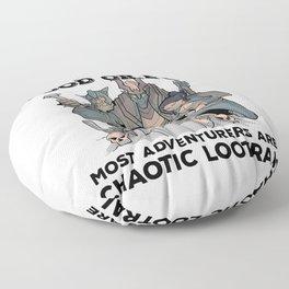 RPG Pnp Pen and Paper Fantasy Roleplaying Fun Meme Alignment Floor Pillow