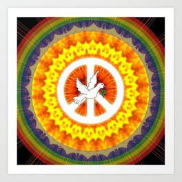 CND Peace and Love Art Print