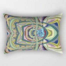 Organized chaos, abstract multicolor Rectangular Pillow