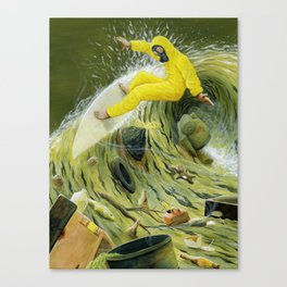 Coastal Pollution Canvas Print