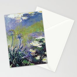 Claude Monet - Agapanthus Stationery Cards