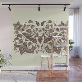 Beetle Bloom Brown Wall Mural