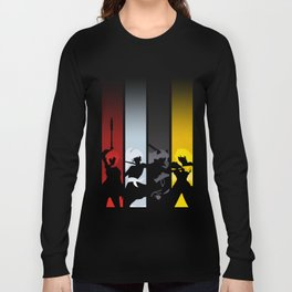 Silhouetted Huntresses Long Sleeve T-shirt