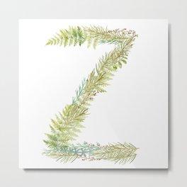 Initial Z Metal Print