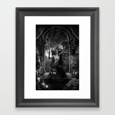 XI. Justice Tarot Card Illustration Framed Art Print