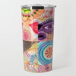 vibrant playful rhythm Travel Mug