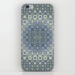 midnight blue butterfly kaleidoskope iPhone Skin