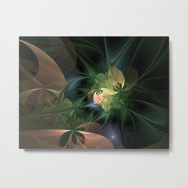 Fractal Floral Fantasy Metal Print