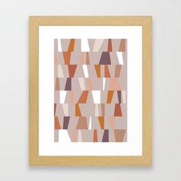 Neutral Geometric 03 Framed Art Print