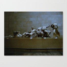 Falling lines Canvas Print