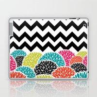 Tropical Flowers Chevron Laptop & iPad Skin