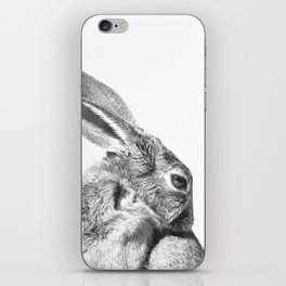 Black and white rabbit iPhone Skin