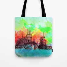 Watercolor Hogwarts Tote Bag