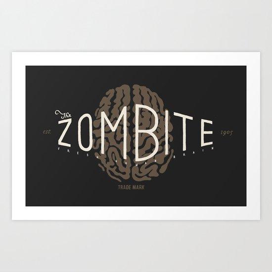 Zombite Art Print