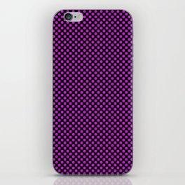Black and Dazzling Violet Polka Dots iPhone Skin