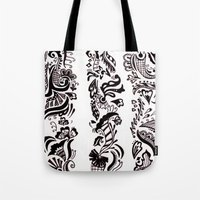 henna Tote Bags featuring Henna  by apratt