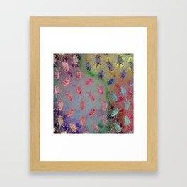 shiny stag beetles Framed Art Print
