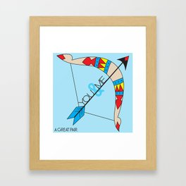 A Great Pair Framed Art Print