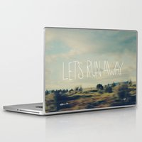 run Laptop & iPad Skins featuring Let's Run Away by Leah Flores