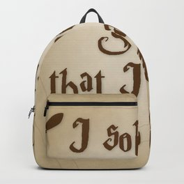 I Solemnly Swear That I'm Up To No Good Backpack