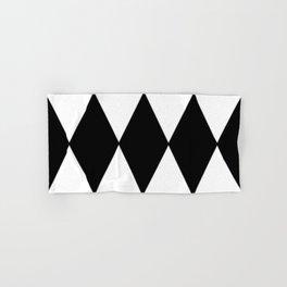 LARGE BLACK AND WHITE HARLEQUIN DIAMOND PATTERN Hand & Bath Towel