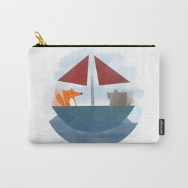 Fox & Wolf in a Tub Carry-All Pouch