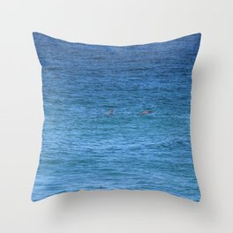 Byron Bay Dolphins Throw Pillow