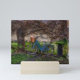 Rainy Day Ride in Cambridge Mini Art Print