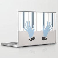 piano Laptop & iPad Skins featuring piano by liva cabule