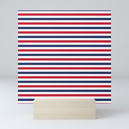 Navy Stripes Mini Art Print