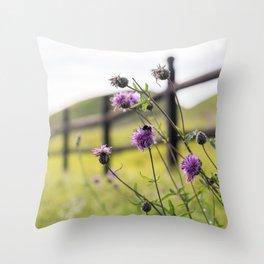 Bumblebee Flower Throw Pillow