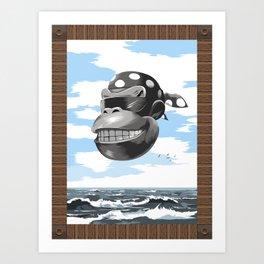 Funky Surf Club Art Print